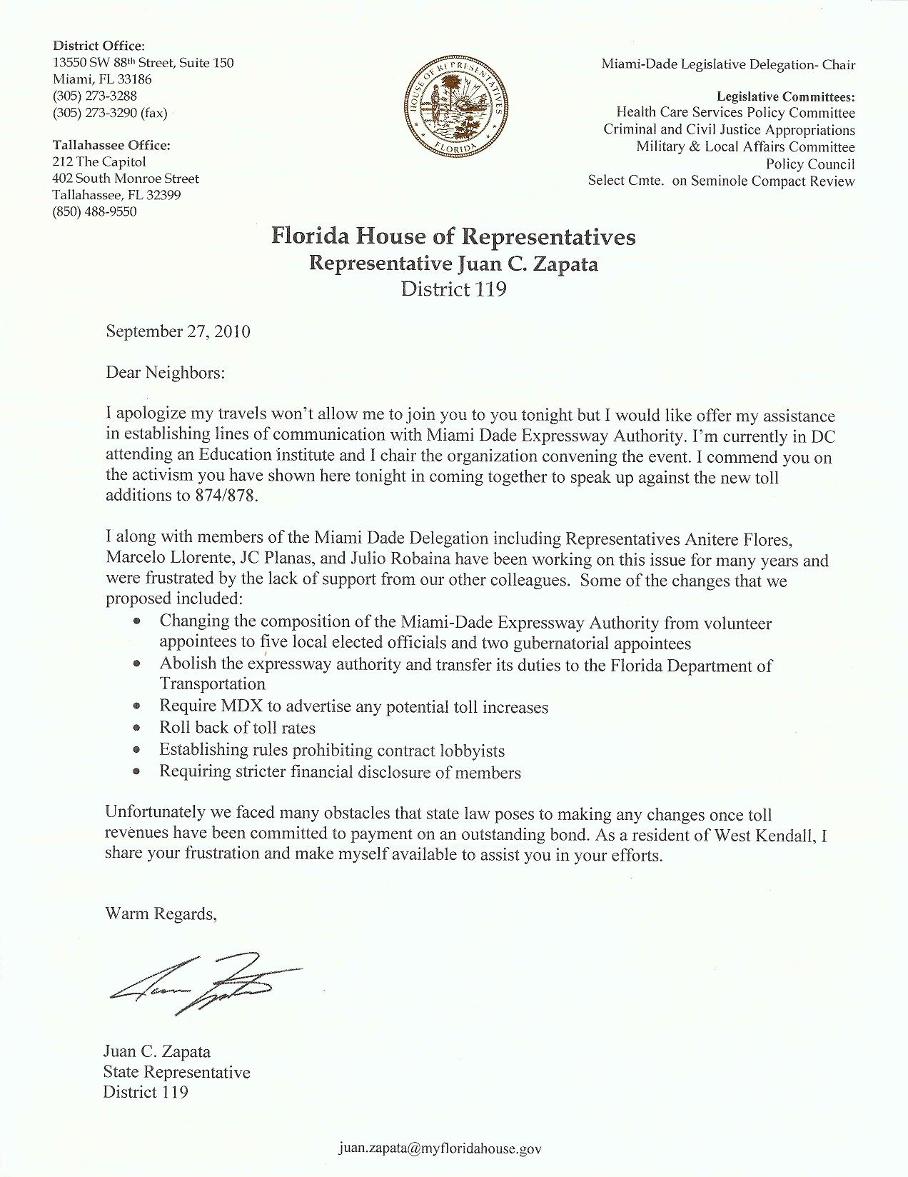 28 Business Letter Format To State Representative