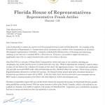 Frank Artiles, State Representative letter to MDX.