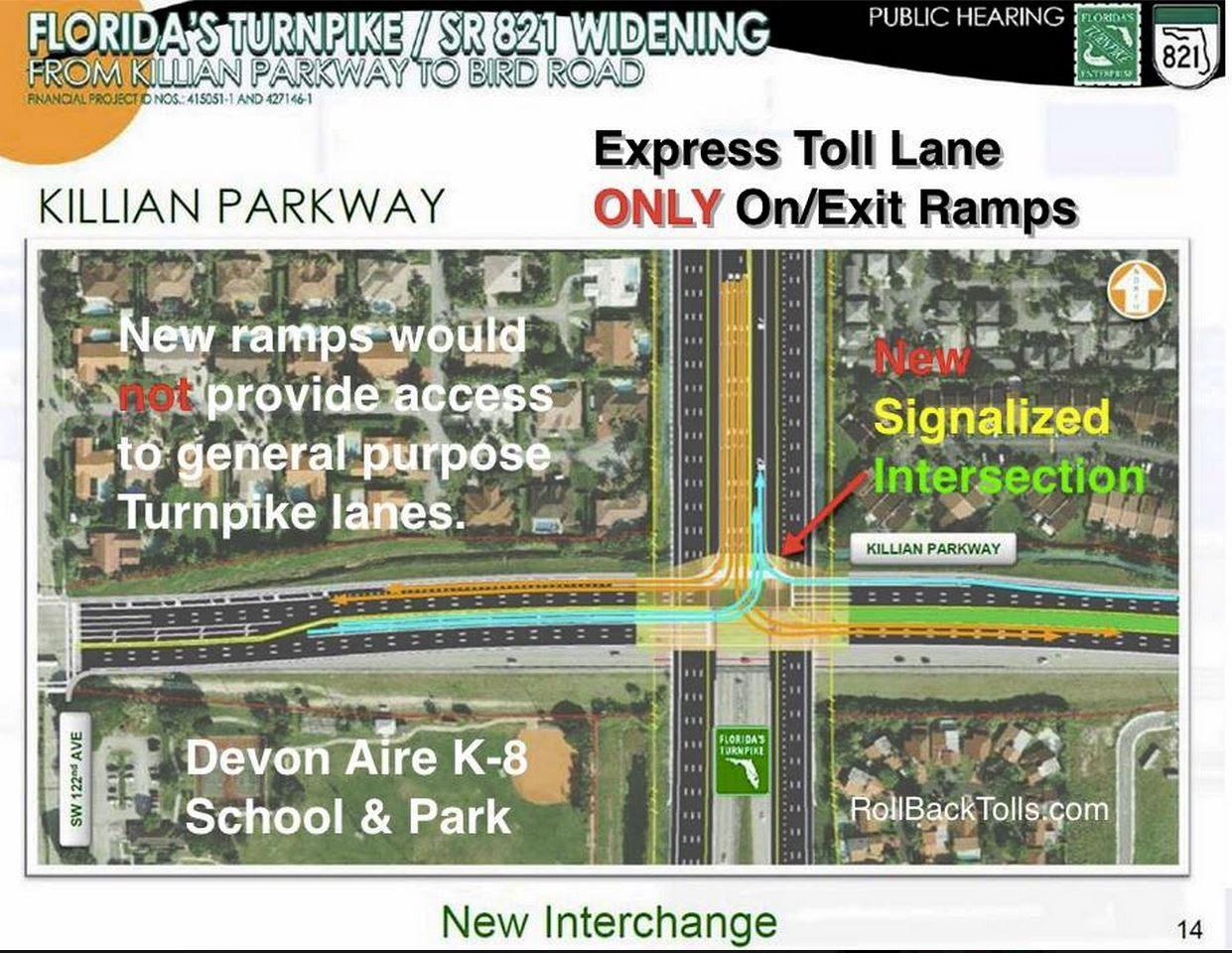 Killian Parkway Express Toll Lane Ramp Project