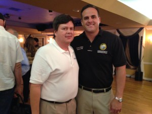 Carlos Garcia of RollBackTolls.com with State Representative, Frank Artiles at Oct. 3rd Turnpike meeting in Kendall.