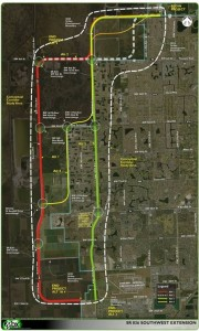 map of 836 Everglades Expressway