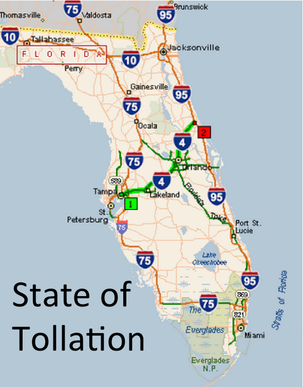 florida map of toll roads