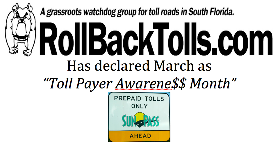 March is Toll Payer Awareness Month