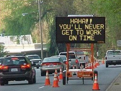Electronic road sign